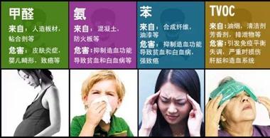 一部分的室内空气污染物